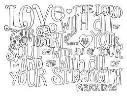 Bible Verse Coloring Pages Love