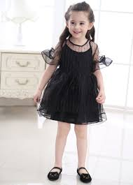 popular dress tulle black and white kids buy cheap dress