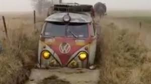 Look At This Badass Microbus Plow Through Mud