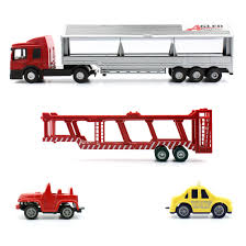 100 Big Truck Toys US 425 Feichao 164 Diecast Alloy Cars Model Toy Metal Vehicles Race Car Transporter Removable With 2 Pieces Small Carin Diecasts