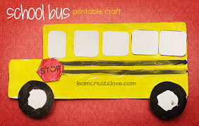 Printable School Bus Craft