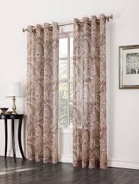 Kmart Sheer Curtain Panels by Jaclyn Smith Celeste Print Textured Semi Sheer Grommet Window