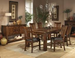 Dark Oak Finish Casual Dining Table W Optional Chairs