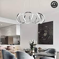 modern led dimmbar pendelleuchte esszimmerle kreativ hängele aus metall in chrom höhenverstellbar schöne led kronleuchter für wohnzimmer