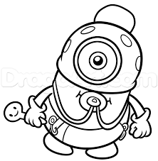 How To Draw Baby Minion