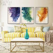 großhandel nordic modernes aquarell abstraktes lila grün orange leinwand malerei ölgemalte wandbild kunst poster home wohnzimmer dekor shutie