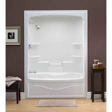 great mirolin liberty 60 inch 1 pc acrylic tub and shower ts5l for home depot bathtubs and showers prepare jpg