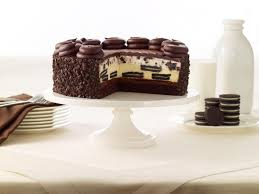 According to The Cheesecake Factory the new cake is made with OREO cookies that are baked in their creamy Cheesecake with layers of fudge cake and OREO