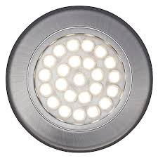 buy lewis warm led circular flat cabinet lights set of