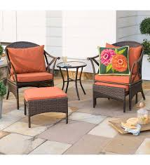 Wicker Patio Furniture Set With Cushions | PlowHearth Red Barrel Studio Dierdre Outdoor Wicker Swivel Club Patio Chair Cosco Malmo 4piece Brown Resin Cversation Set With Crosley Fniture St Augustine 3 Piece Seating Hampton Bay Amusing Chairs Cushions Pcs Pe Rattan Cushion Table Garden Steel Outdoor Seat Cushions For Your Riviera 4 Piece Matt4 Jaetees Spring Haven Allweather Amazoncom Festnight Ding Of 2