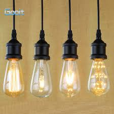e27 light socket i shape vintage retro edison bulb pendant l