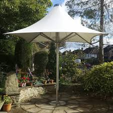 Commercial Patio Umbrella Stainless Steel PVC Wind Resistant