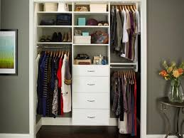 Photo 4 Of 5 Clean White Shoes Shelves And Drawers Used In Small Closet Organization Ideas With Laminate Oak Flooring