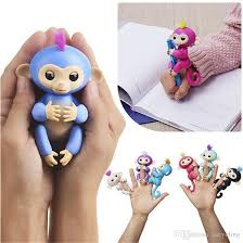 Presale Pvc Fingerlings Interactive Baby Monkey Finger Toys Electronic Smart Touch Fingers Fidget For Gifts Pig Puppet Knitting