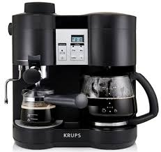 KRUPS XP1600 Coffee Maker And Espresso Machine Combination Black