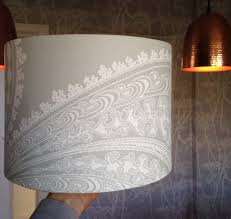 Drum Lampshade From Wallpaper