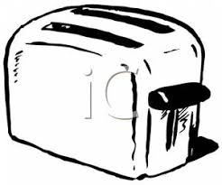 Microwave And Toaster Clipart 1