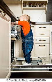 Baby Helping Unload Dishwasher