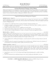 Resume Examples For Managers Director Activities