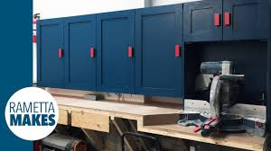 Cheap Garage Cabinets Diy by How To Build Workshop Cabinets Diy Organization Youtube