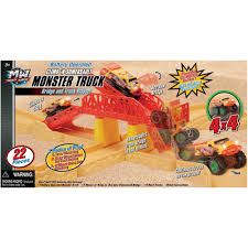 100 Monster Truck Track Set Battery Operated Somersault Bridge And S