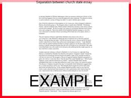 Separation Between Church State Essay 1 Of And So