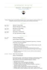 Freelance Photographer Resume Example