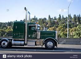 100 Semi Truck Exhaust Profile Of Green Classic American Pro Stylish Bonnet Big Rig Semi