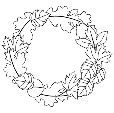Printable Coloring Pages Harvest Easy Preschool Fall Leaves