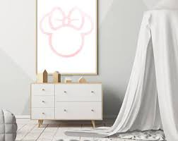 Minnie Mouse Bedroom Accessories Ireland by Minnie Mouse Print Etsy