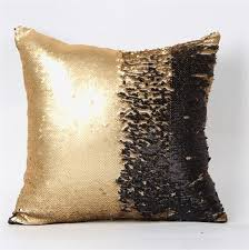 reversible sequin cushion cover mermaid pillow magical color