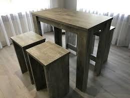 neu bartisch stühle hocker set küchentisch stehtisch 120 x