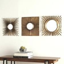 Wall Decor Set Of 3 Piece Antique Gold Decorative Mirror Sunburst Art Umbra