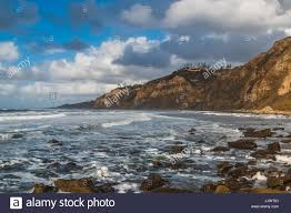 100 Point Loma Houses On Top Of Cliffs At In San Diego California Stock