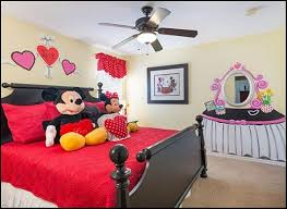 mickey mouse bedroom sets with ceiling fan with l and love wall
