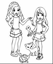 Surprising Lego Friends Coloring Pages With And Super