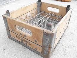 Wooden Milk Crates Wholesale In Artistic Compartment Vintage