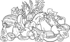 Fruit And Vegetable Coloring Pages Vegetables 4 For
