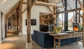 wohnideen für offenes wohnzimmer mit küche moderne