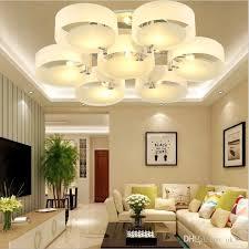 großhandel moderne deckenleuchten runder kreis acryl deckenleuchte wohnzimmer schlafzimmer home deco luster e27 chrom eisen led beleuchtung