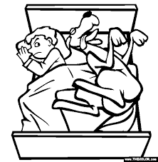 Hogging The Bed Online Coloring Page