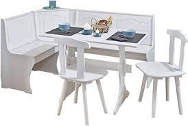 h24living eckbankgruppe eckbank essgruppe essecke bank sitzecken tisch 2 stühle landhaus stil küche massivholz truhenfächer holz kiefer massiv 124 163
