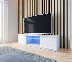 gap tv lowboard tv schrank weiß hochglanz fronten led 120 cm