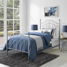 Mainstays Twin Metal Bed Pewter Taupe
