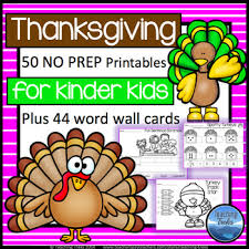 Thanksgiving Activities Kindergarten Math And Language Worksheets