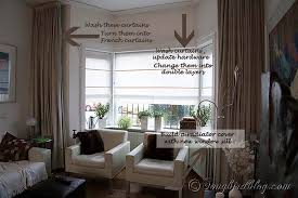 living room curtain ideas for bay windows fantastic curtains for bay windows in living room ideas with