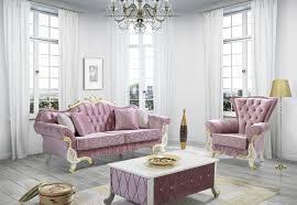 casa padrino barock wohnzimmer sofa mit glitzersteinen rosa weiß gold 228 x 105 x h 85 cm edel prunkvoll