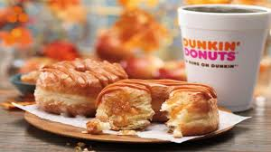 Pumpkin Dunkin Donuts by Dunkin Donuts Caramel Apple Croissant Donut Review Carbs Youtube