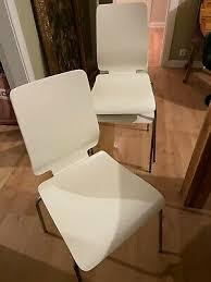 6 weiße ikea stühle esszimmer