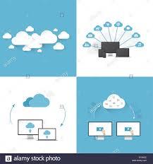 100 Flat Cloud Cloud Computing Vector Illustration Templates Stock